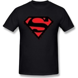 T Shirt Funny Tee Protection Superhero Superman DC Clasic Shield Comic