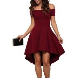 Women Short Sleeve Strapless Dress Cocktail Party Dress