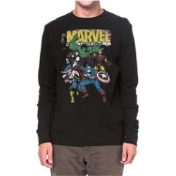 Marvel Mens Shirt The Avengers Retro Comics Print Long Sleeves