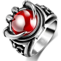 316L Titanium Ruby Men's Ring found on MODAPINS from groupon for USD $22.99