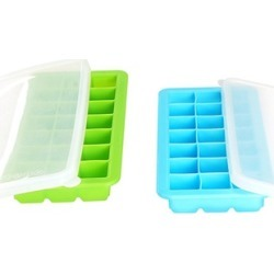 2-Pack Ice Cube Tray Set With Lids - 42 Ice Cube Molds