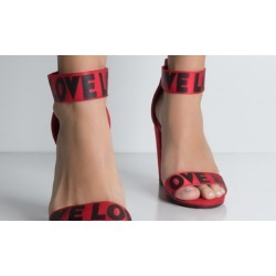 Stay Within The Lined Ankle Strap Sandal