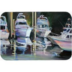 Carolines Treasures JMK1048LCB Deep Sea Fishing Boats Glass Cutting Board Large