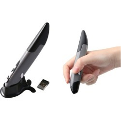 Wireless Mouse Holding Like a Pen USB Receiver
