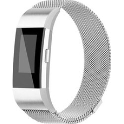 FitBit Charge 2 Wristband Metal Stainless Milanese Magnetic Loop Band