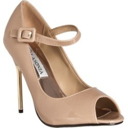 Riverberry 'Peep Toe Mary Jane Style Stiletto Heels, Nude Patent