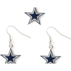 Sports Team Logo Necklace and Dangle Earring Charm Set NFL
