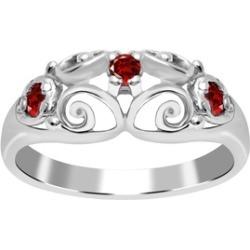 Orchid Jewelry 925 Sterling Silver 0.24 Carat Garnet Filigree Ring