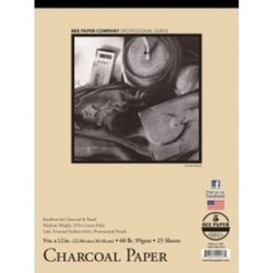 Bee Paper B1021T25-912 9 x 12 in. Charcoal Paper Pad