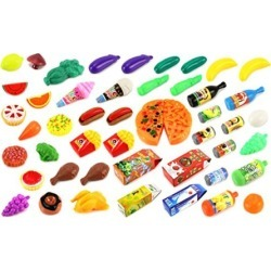 Deluxe Food Kitchen Collection 59 Pcs. Toy Food Playset w/ Assorted Toy Foods