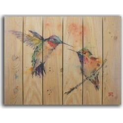 Gizaun Art DCLB2836 Love Bird Inside & Outside Cedar Wall Art
