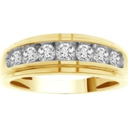 3/4 Cttw diamond Promo Band with 10KT Yellow Gold