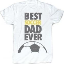 Best Dad Ever T-Shirt Vintage Faded Soccer T-Shirt