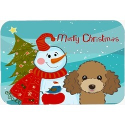 Carolines Treasures BB1876LCB Snowman With Chocolate Brown Poodle
