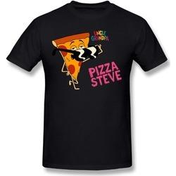 SDETY Luyi Uncle Grandpa Unc Pizza Steve Black Tee