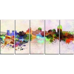 Cincinnati Skyline - Cityscape Canvas Artwork Print