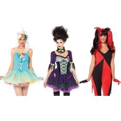 Leg Avenue Fairy, Bride and Jester Costumes
