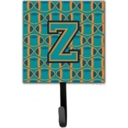 Carolines Treasures CJ1063-ZSH4 Letter Z Football Aqua Orange & Marine Blue
