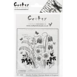 Crafty Individuals CI-422 4.75 x 7 in. Unmounted Rubber Stamp - Spring Flower Ga