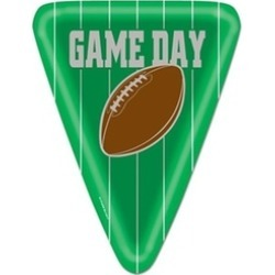 Beistle 58016 Game Day Football Plates