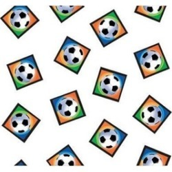Amscan 577040 Championship Soccer Tablecover Plastic - Pack of 6