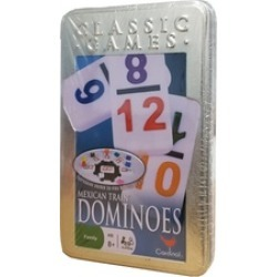 Mexican Games Dominoes Games with Aluminum Case