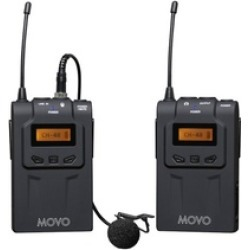 Movo 48-Channel UHF Wireless Lavalier Microphone System - 328' Range