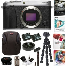 Fujifilm X-E3 Mirrorless Camera (Silver) with Software and Accessories Bundle