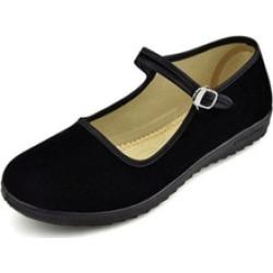 Women's Cotton Mary Jane Shoes Ballerina Ballet Flats Yoga Shoes