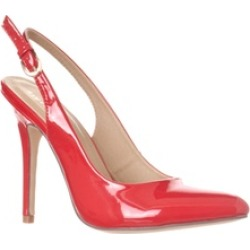 Riverberry 'Lucy' Pointed-Toe Sling Back Pump Heels, Red Patent