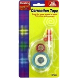 Bulk Buys OP028-24 Plastic Correction Tape - Pack of 24