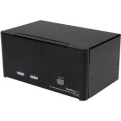 StarTech 2 Port Triple Monitor DVI USB KVM Switch with Audio & USB 2.0 Hub