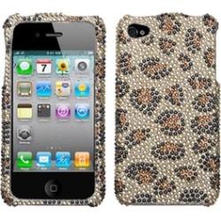 Insten Leopard Skin/Camel Diamante Case For iPhone 4 4S