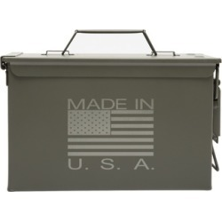 Metal Ammo Can with Made In USA Laser Engraving