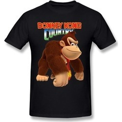 YHSXD Caitian Video Games Donkey Kong Country Black Tee