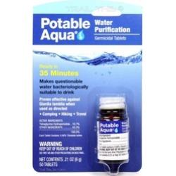 Potable Aqua Iodine Germicidal Water Purification Tablets Bottle