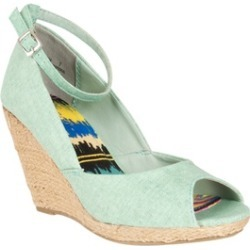 Riverberry Women's 'Astrid' Ankle Strap Peep Toe Wedges, Mint