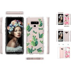 Case Shockproof Rose Cactus Print Clear Popular For SamSung Galaxy note9