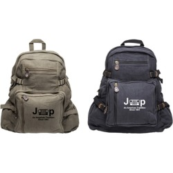 Jeep An American Tradition Heavyweight Canvas Backpack found on Bargain Bro Philippines from groupon for $29.95