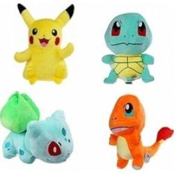 New 4 Pcs Set Pokemon Pikachu Bulbasaur Squirtle Charmander Plush Toy