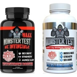 Angry Supplements Monster Test MAXX (90-Count) and Monster Test (120-Count) Dietary Supplement Set