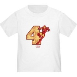 CafePress Iron Birthday Age 4 Cute Toddler T-Shirt found on Bargain Bro India from groupon for $9.98