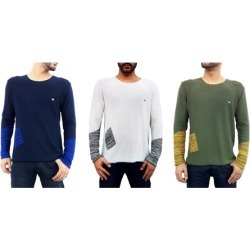 Etzo Mens Premium 2 Tone European Sweater