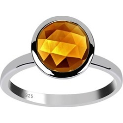 Orchid Jewelry 925 Sterling Silver 3 Carat Citrine Ring