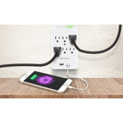 Aduro 6-Outlet/Dual-USB Charging Station