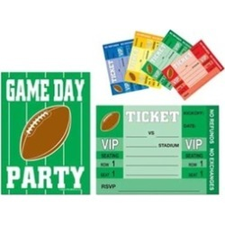 Beistle 58249 Game Day Football Invitations - Pack of 12