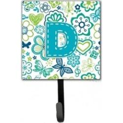 Carolines Treasures CJ2006-DSH4 Letter D Flowers And Butterflies Teal Blue Leash