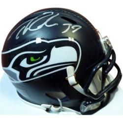 Autographed Thomas Rawls Seattle Seahawks Speed Mini Helmet