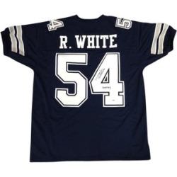 Autographed Randy White Dallas Cowboys Blue Custom Jersey