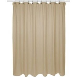 "Carnation Home Fashions Chevron Weave 100% Cotton Shower Curtain - 72"" X 72"""